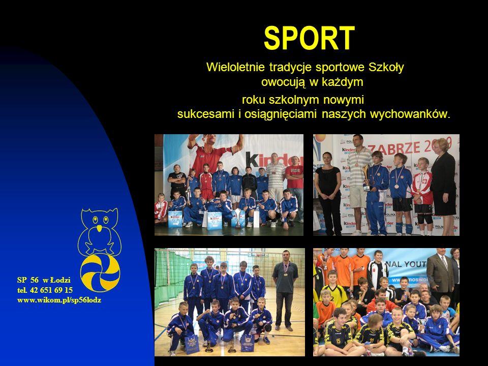 SPORT Wieloletnie tradycje sportowe Szkoły owocują w każdym roku szkolnym nowymi sukcesami i osiągnięciami naszych wychowanków.