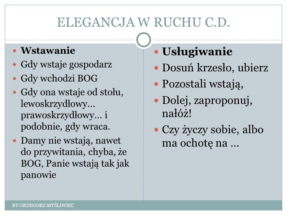 ELEGANCJA W RUCHU C.D.