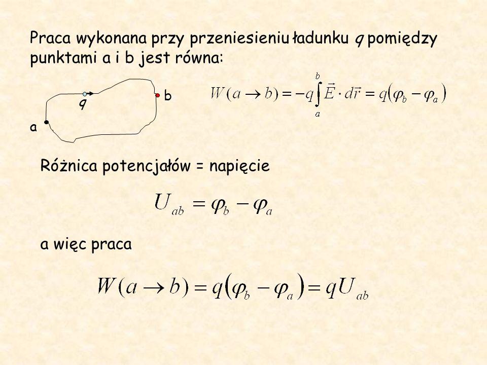 Praca sił pola zachowawczego jest równa ubytkowi jego energii potencjalnej Potencjał jest liczbowo równy energii potencjalnej jaką posiadałby w danym punkcie pola jednostkowy ładunek dodatni.