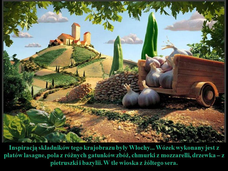 Inspiracją składników tego krajobrazu były Włochy...