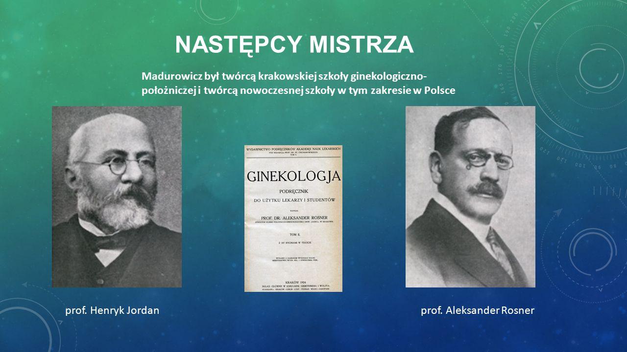 NASTĘPCY MISTRZA prof. Henryk Jordanprof.