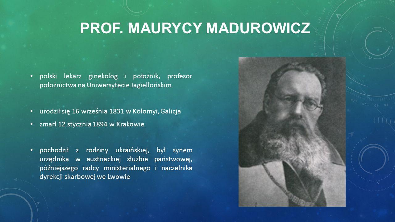 SZPITALE IM.M. MADUROWICZA Szpital im. M. Madurowicza w Łodzi (aktualnie część szpitala im.