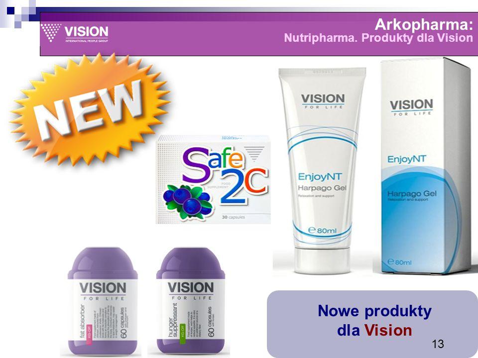 Arkopharma: Nutripharma. Produkty dla Vision Nowe produkty dla Vision 13