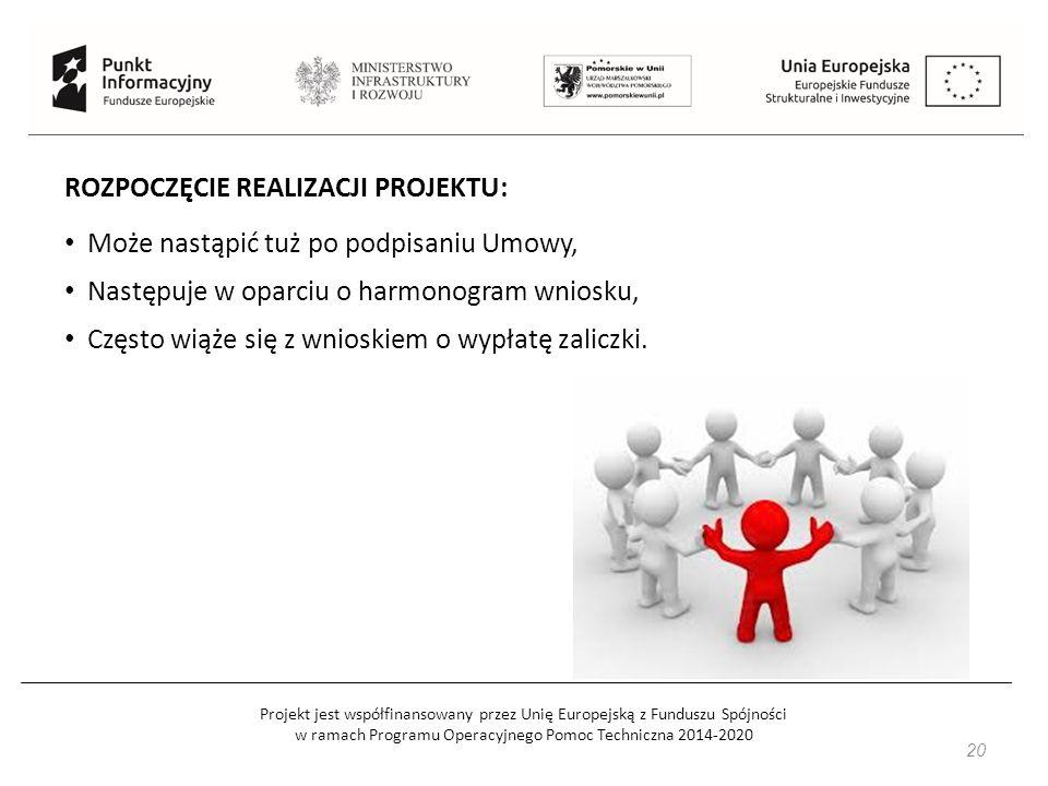 Projekt jest współfinansowany przez Unię Europejską z Funduszu Spójności w ramach Programu Operacyjnego Pomoc Techniczna 2014-2020 20 ROZPOCZĘCIE REAL