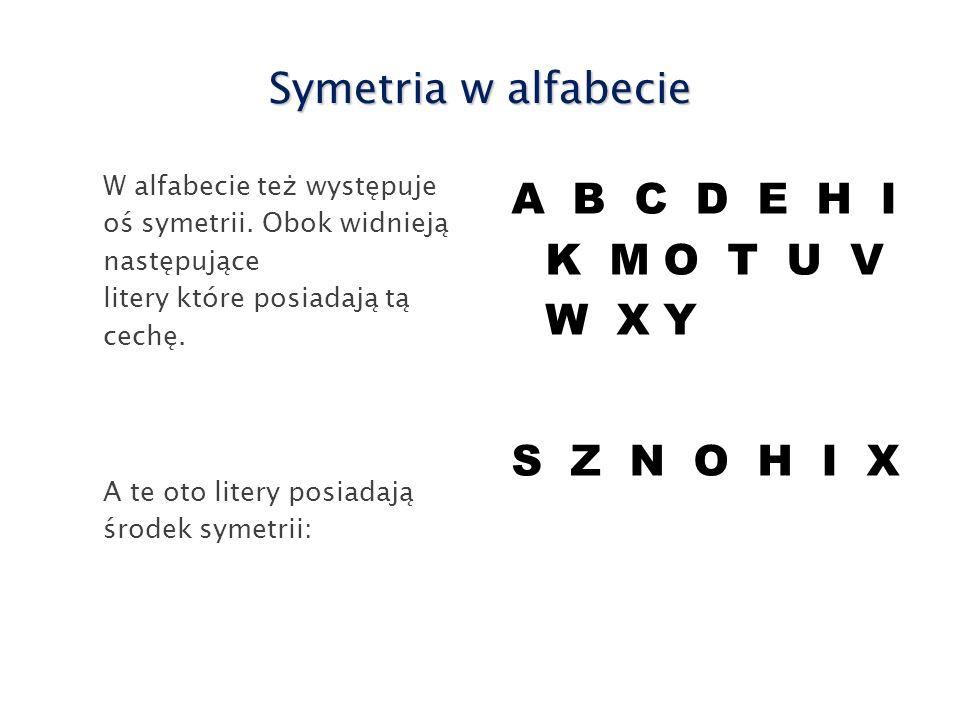 Znaki zodiaku Ze środkiem symetrii: Z osią symetrii: