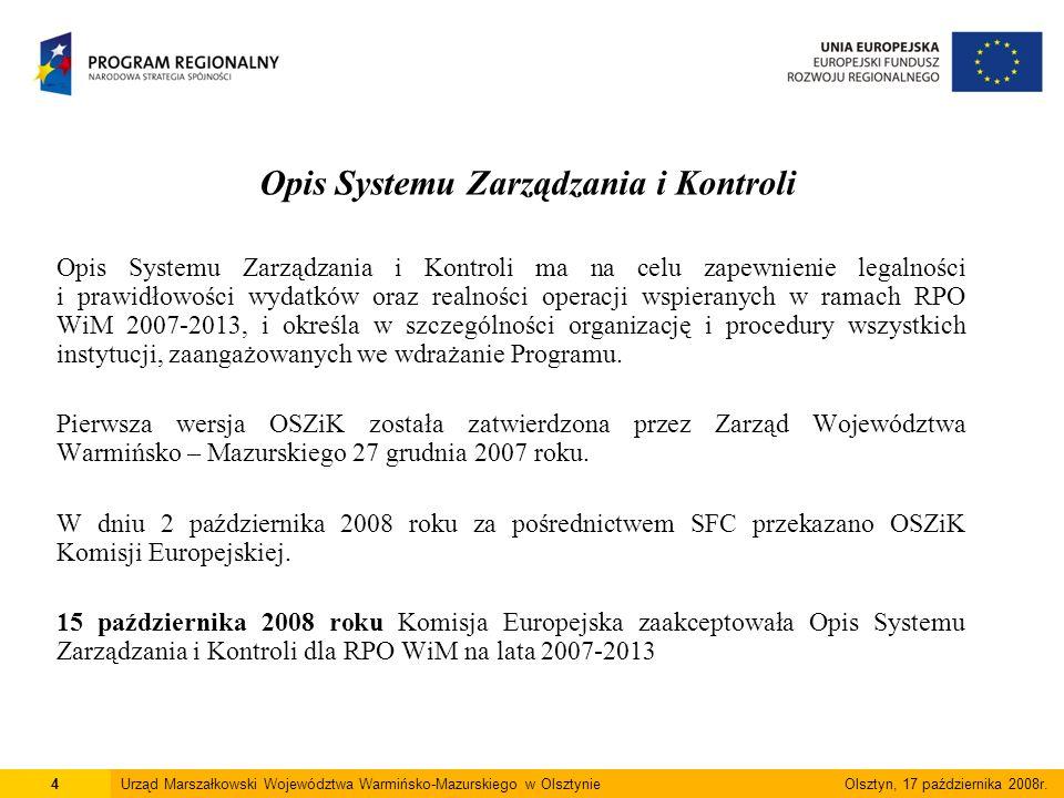Instrukcja Wykonawcza IZ RPO WiM 2007-2013 Instrukcja Wykonawcza zawiera pisemne procedury m.in.