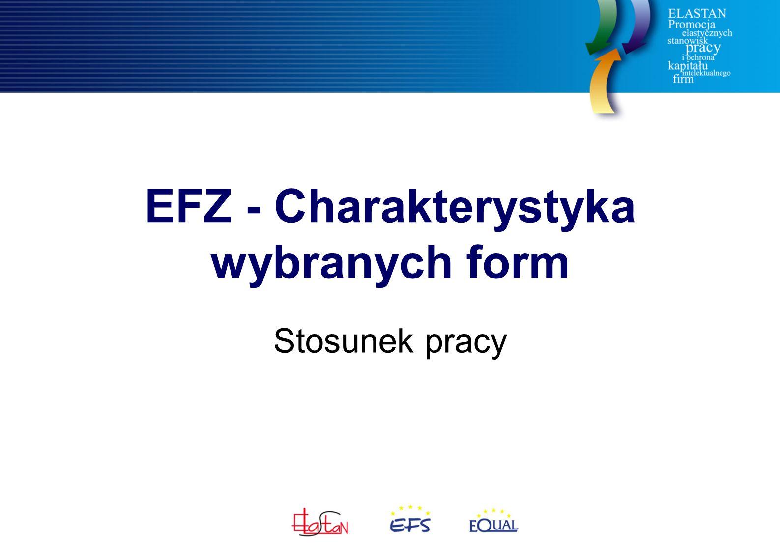 EFZ - Charakterystyka wybranych form Stosunek pracy