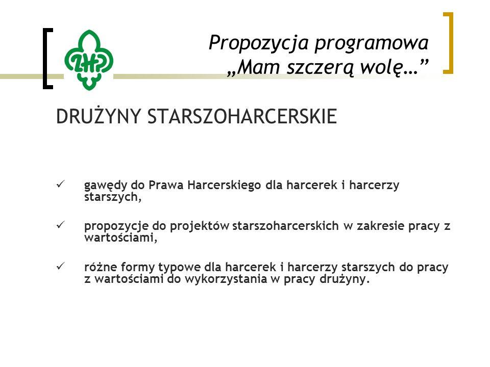 """Propozycja programowa """"Mam szczerą wolę…"""" DRUŻYNY STARSZOHARCERSKIE gawędy do Prawa Harcerskiego dla harcerek i harcerzy starszych, propozycje do proj"""