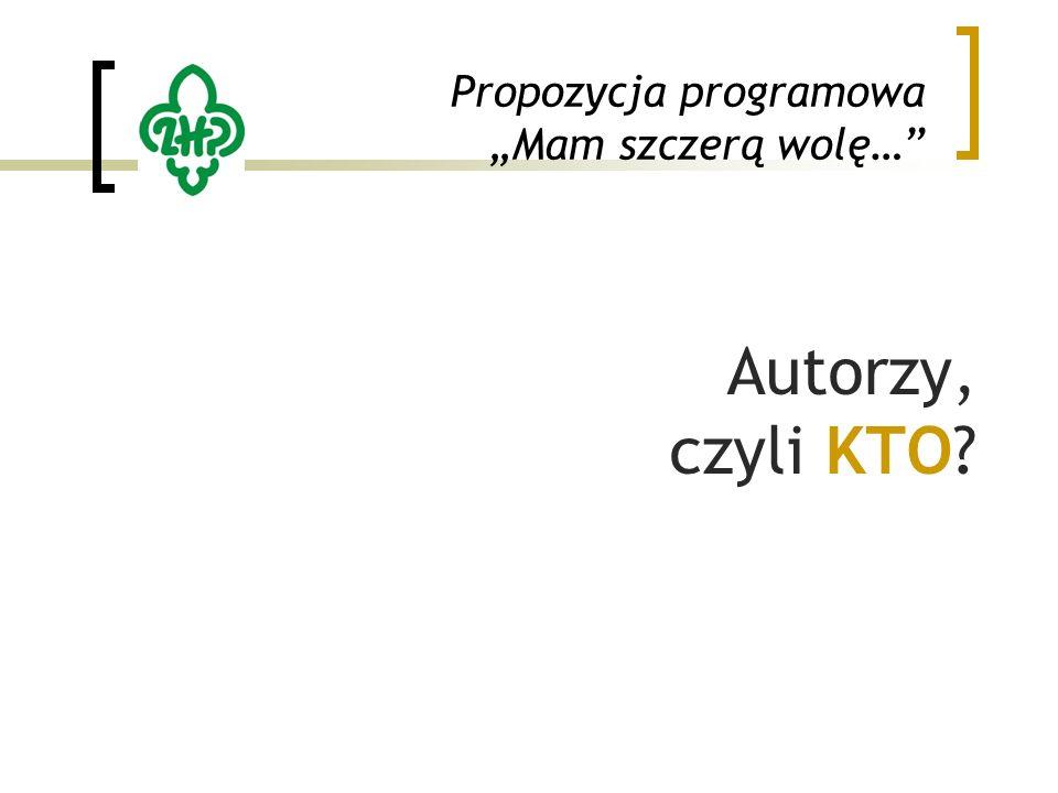 """Propozycja programowa """"Mam szczerą wolę… Autorzy, czyli KTO"""