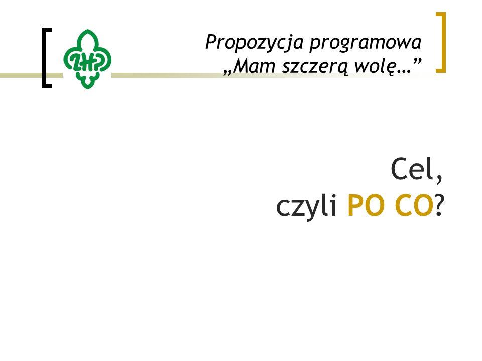 """Propozycja programowa """"Mam szczerą wolę… Cel, czyli PO CO"""