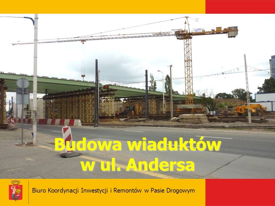 Budowa wiaduktów w ul. Andersa Biuro Koordynacji Inwestycji i Remontów w Pasie Drogowym