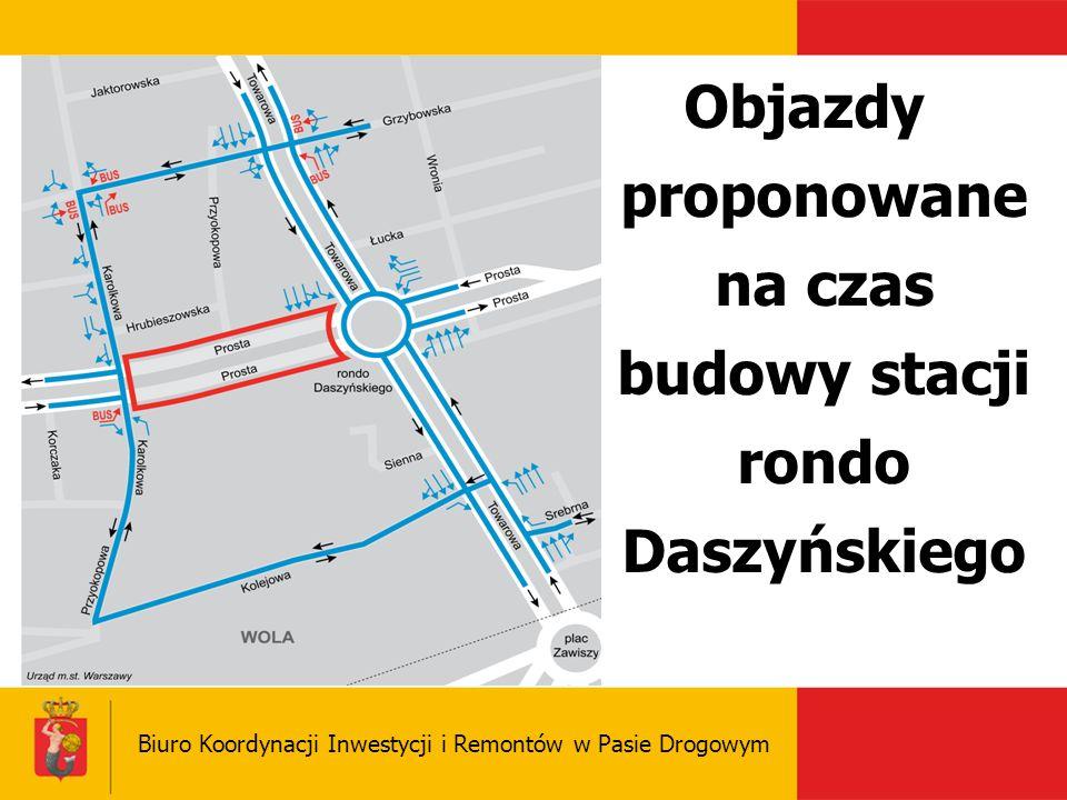 Objazdy proponowane na czas budowy stacji rondo Daszyńskiego