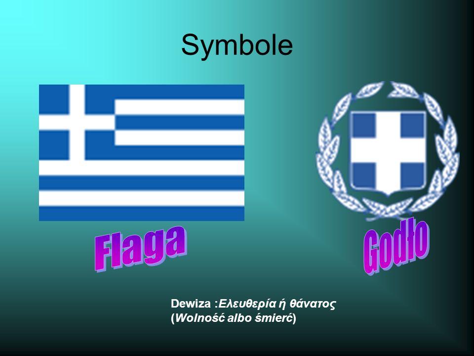 Symbole Dewiza :Ελευθερία ή θάνατος (Wolność albo śmierć)