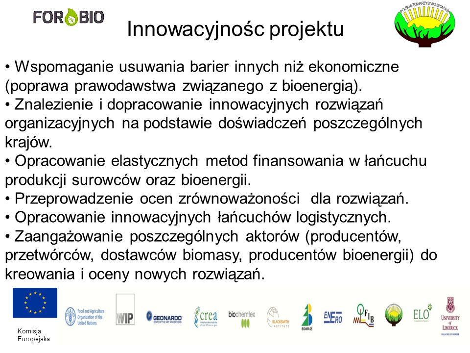 Komisja Europejska Innowacyjnośc projektu Wspomaganie usuwania barier innych niż ekonomiczne (poprawa prawodawstwa związanego z bioenergią). Znalezien