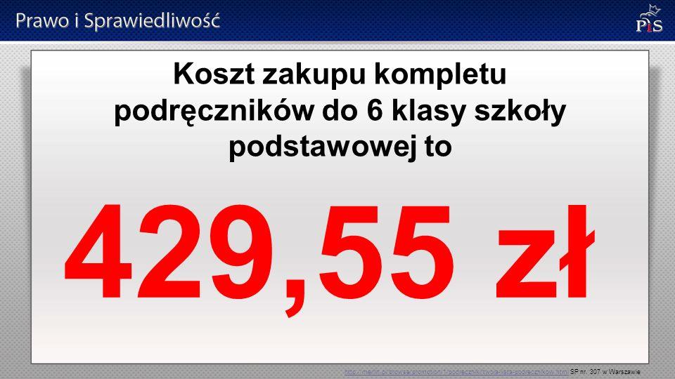 Koszt zakupu kompletu podręczników do 6 klasy szkoły podstawowej to 429,55 zł http://merlin.pl/browse/promotion/1/podreczniki/twoja-lista-podrecznikow
