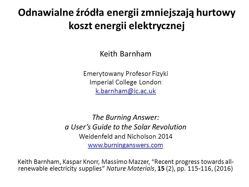 KKW: wspólna elektrownia ●Kombikraftwerk projekt wszystko ze źródeł odnawialnych rozpoczął się w 2006 roku ●W 2006 odnawialne źródła energii( PV, elektrownie wiatrowe, biogaz) dostarczyły 1 / 10.000 rzeczywistego zapotrzebowania na energię elektryczną w Niemczech ●PV i wiatr mogą dostarczyć 78% zapotrzebowania na energię elektryczną w Niemczech ●Wymagana rezerwa mocy z biogazy tylko 17% ●Niezbedne było tylko 5% z akumulatorów ●KKW wyznacza cele wszystkim odnawialnym źródłom energii w Niemczech - Dostosowanie w UK (jutro)