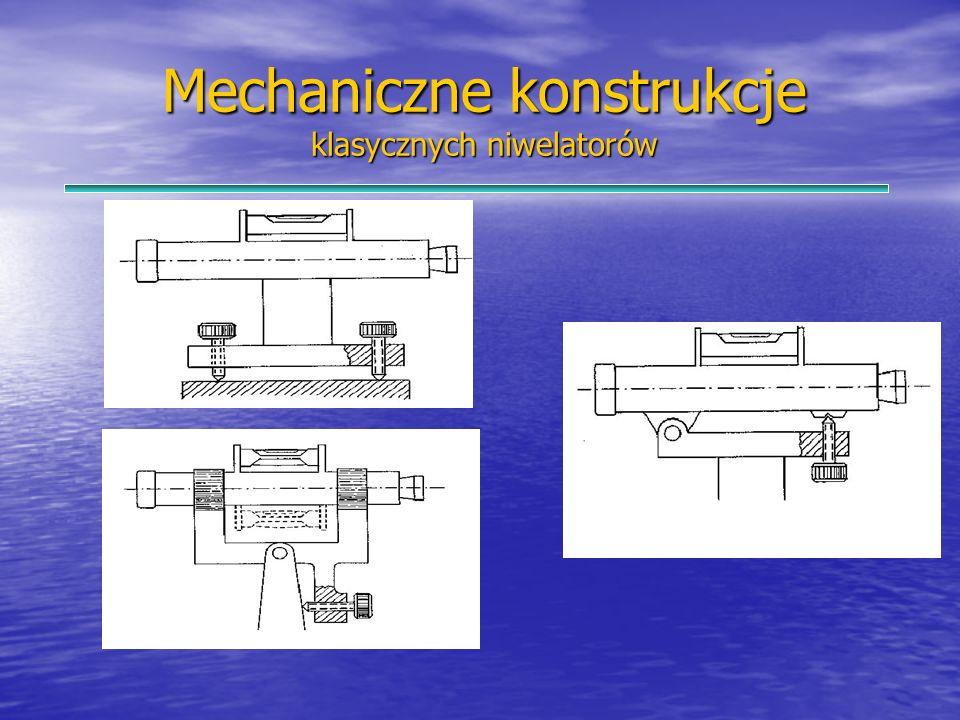 Mechaniczne konstrukcje klasycznych niwelatorów