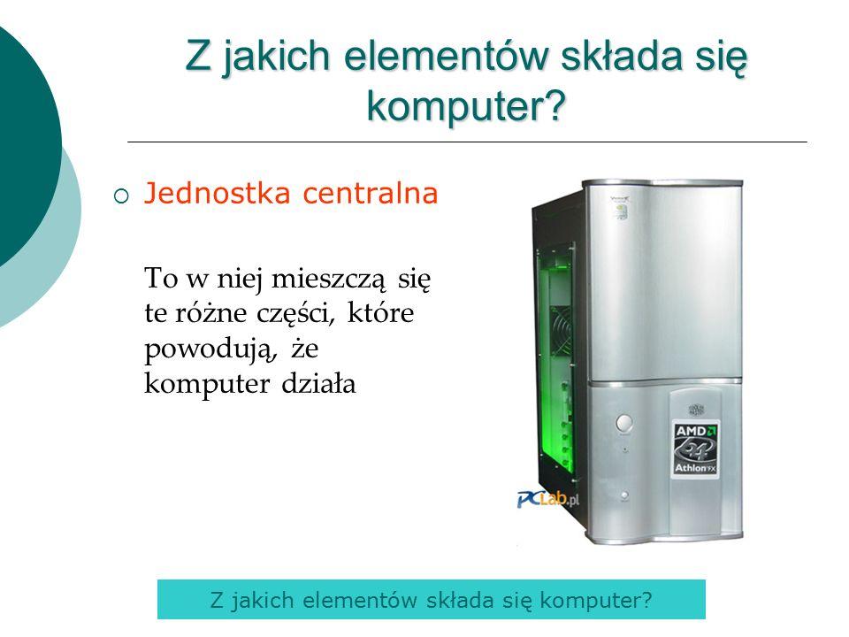 Z jakich elementów składa się komputer.