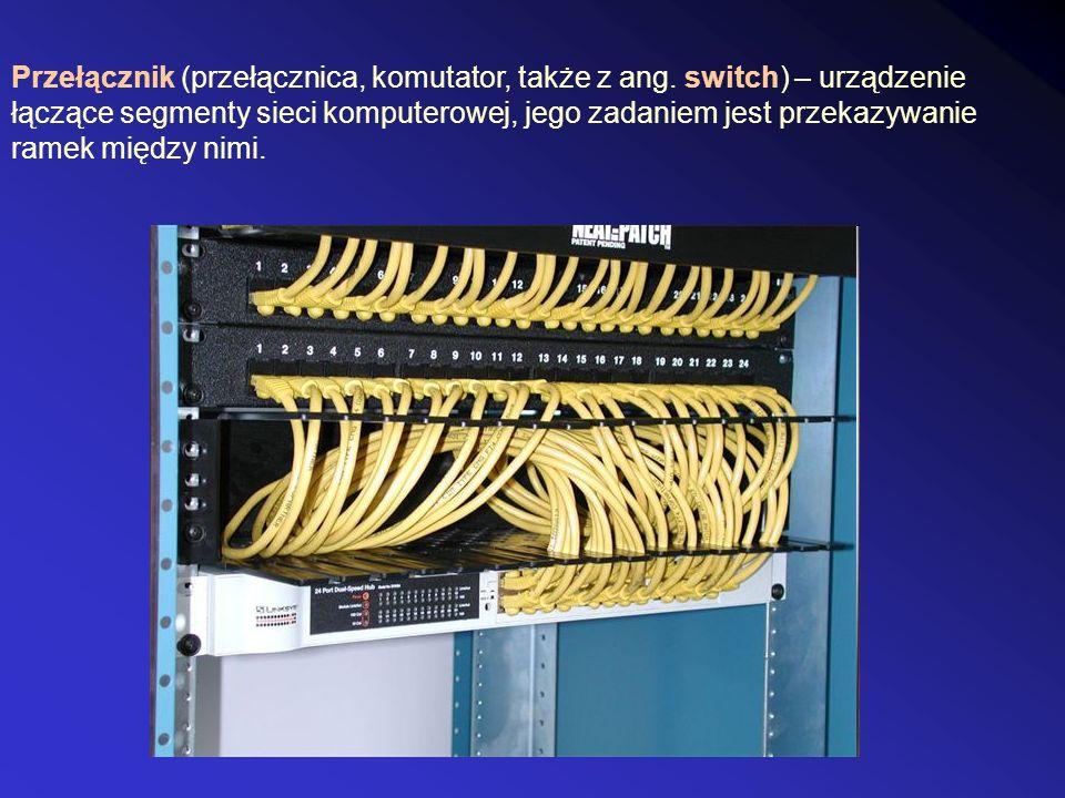 Przełącznik (przełącznica, komutator, także z ang.