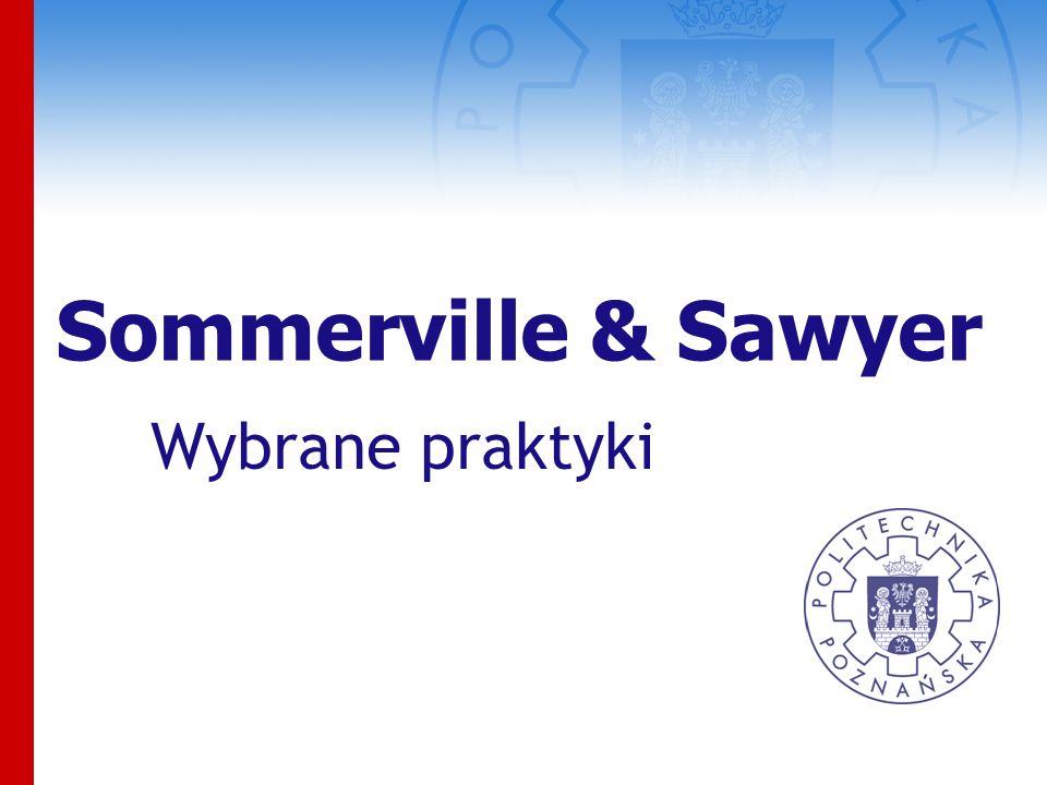 Sommerville & Sawyer Wybrane praktyki