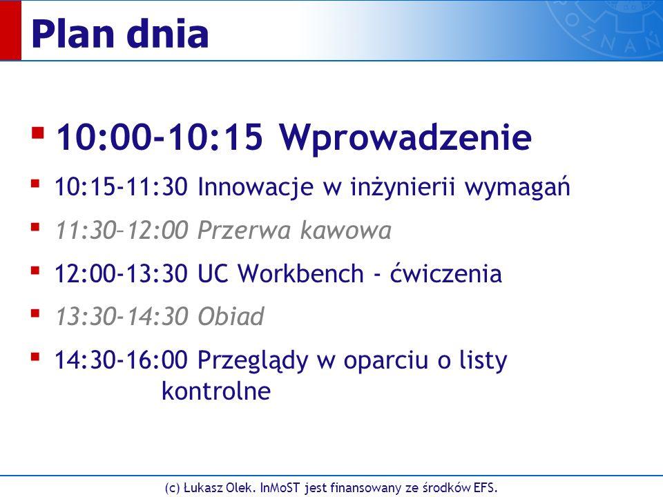 (c) Łukasz Olek. InMoST jest finansowany ze środków EFS. UC3.3. Logowanie się firmy w portalu