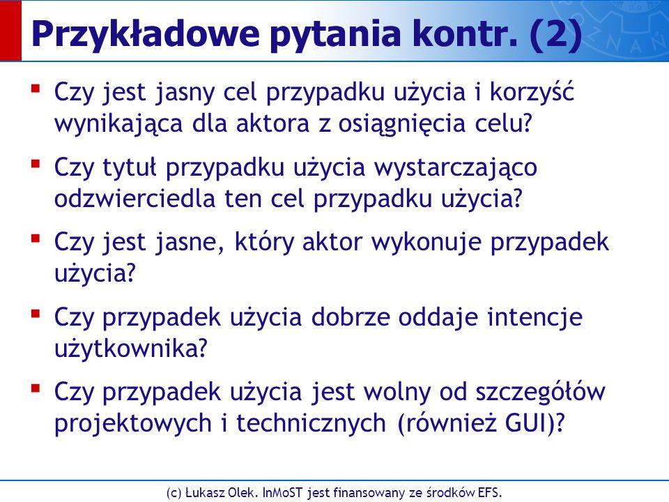 (c) Łukasz Olek. InMoST jest finansowany ze środków EFS.