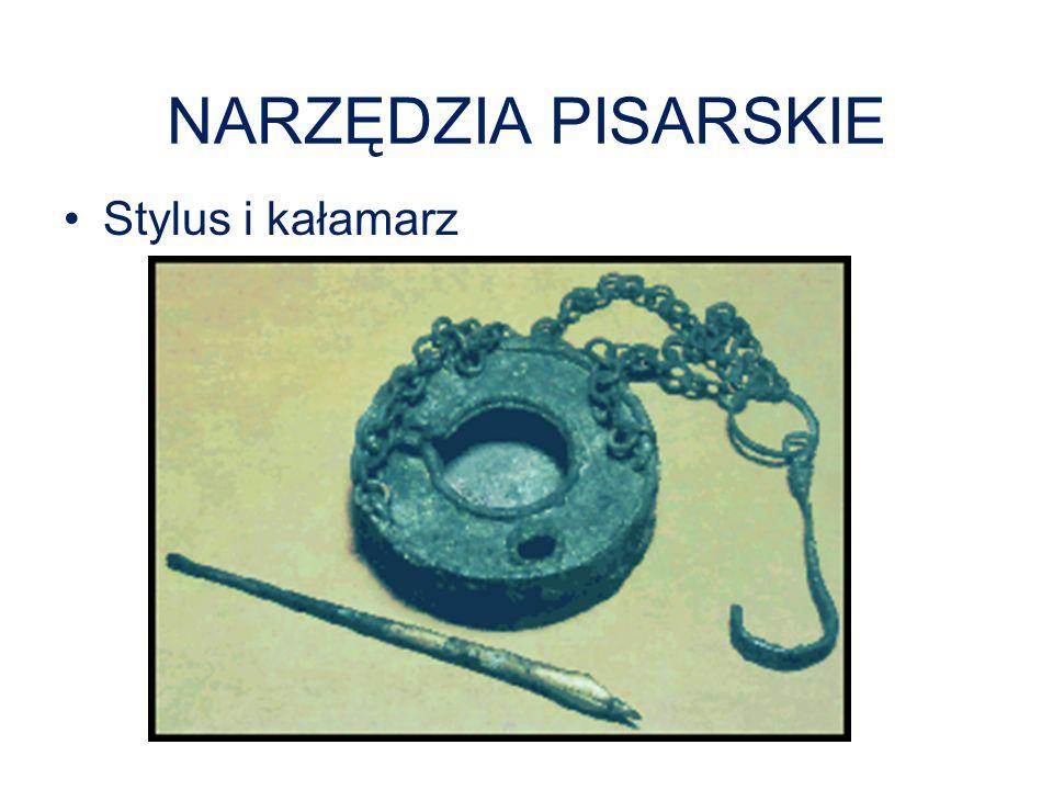 NARZĘDZIA PISARSKIE Stylus i kałamarz