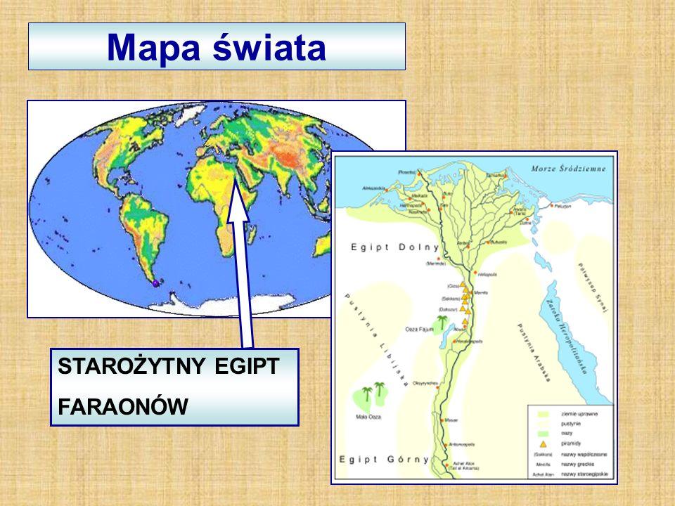 Mapa świata STAROŻYTNY EGIPT FARAONÓW