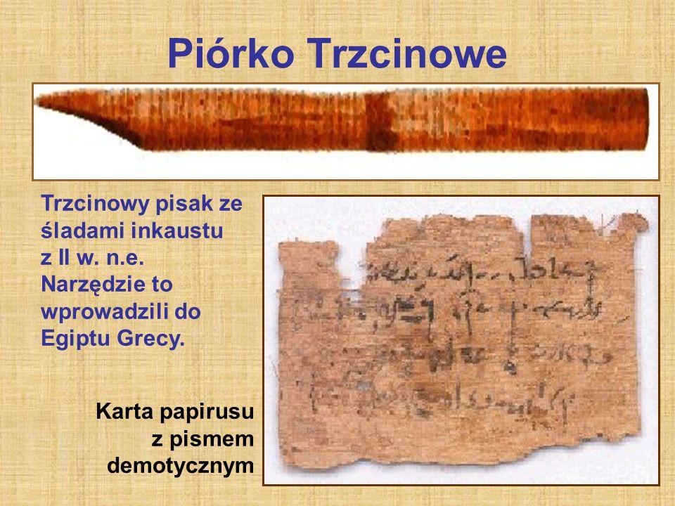 Piórko Trzcinowe Trzcinowy pisak ze śladami inkaustu z II w.