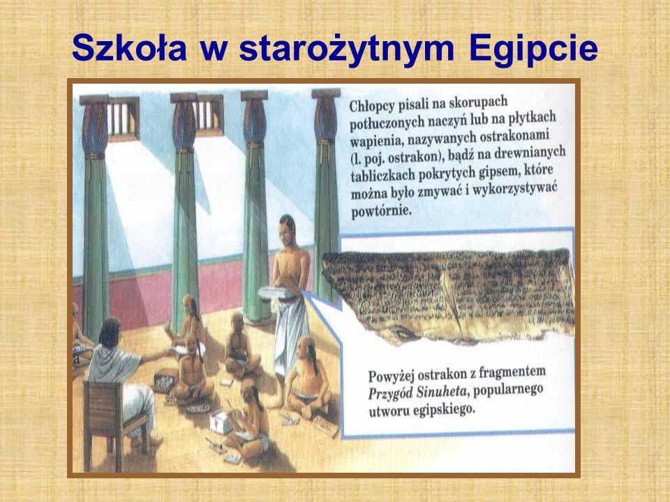 Szkoła w starożytnym Egipcie