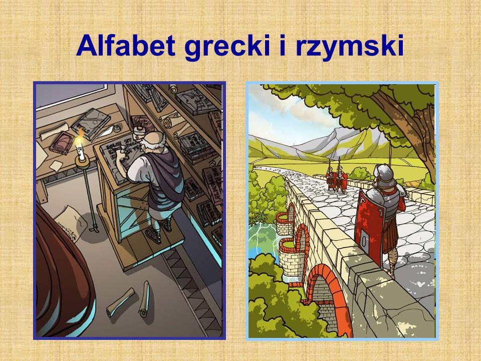 Alfabet grecki i rzymski