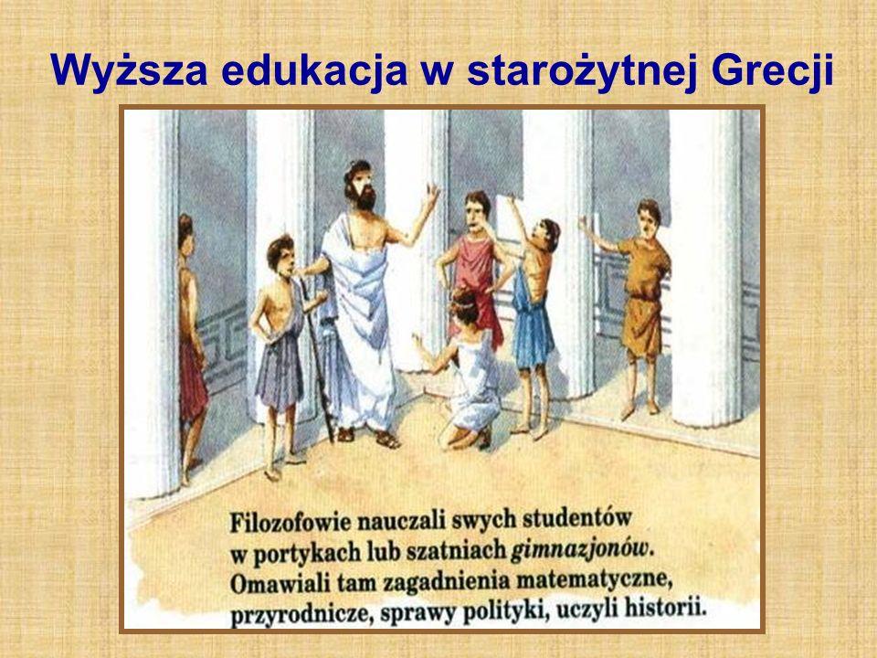 Wyższa edukacja w starożytnej Grecji