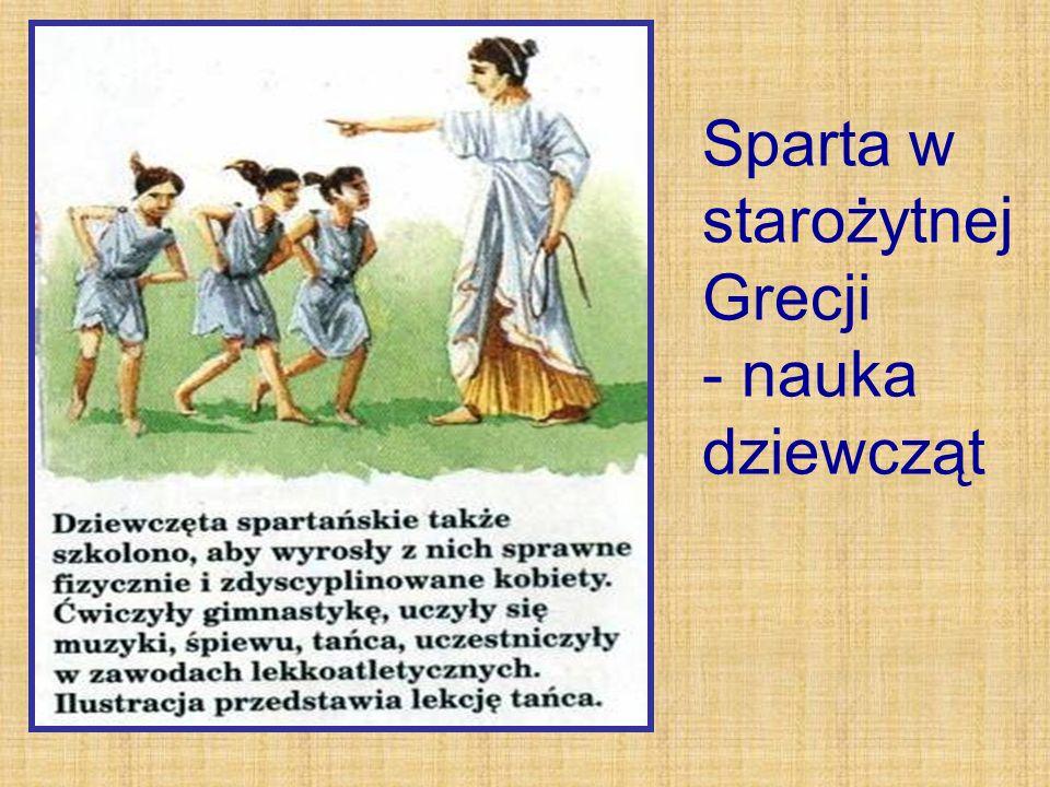 Sparta w starożytnej Grecji - nauka dziewcząt