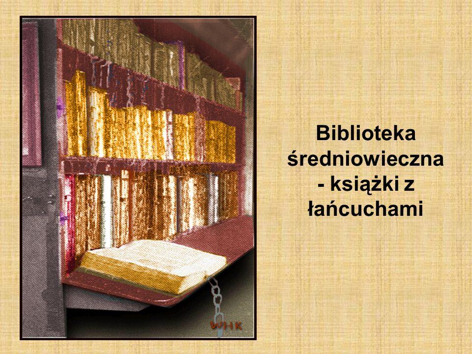 Biblioteka średniowieczna - książki z łańcuchami