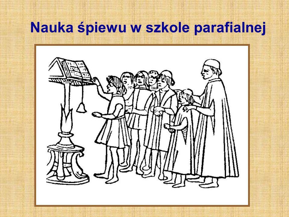 Nauka śpiewu w szkole parafialnej