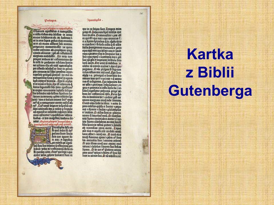 Kartka z Biblii Gutenberga