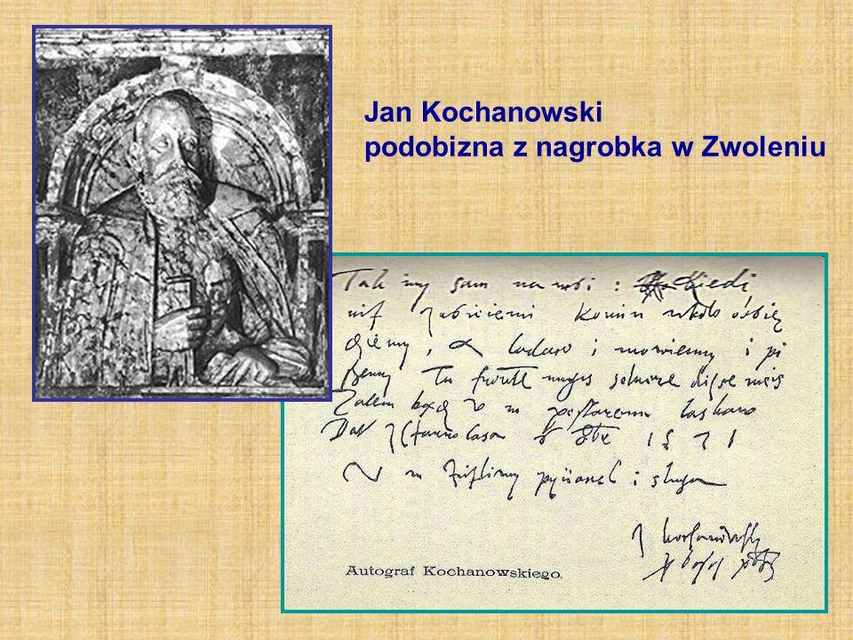 Jan Kochanowski podobizna z nagrobka w Zwoleniu