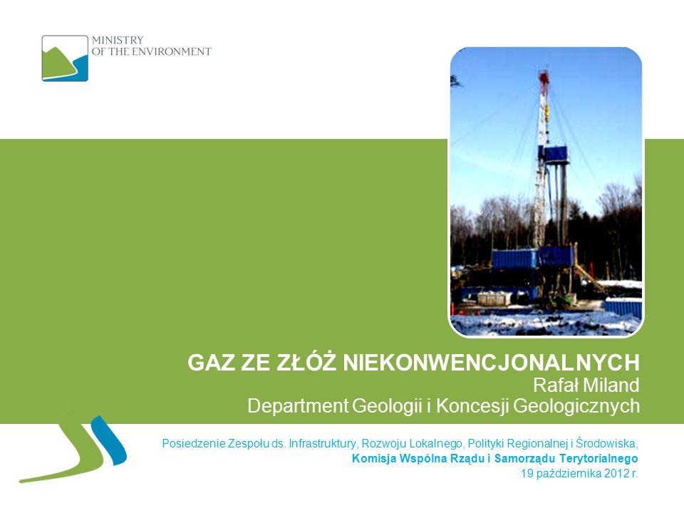 Wyższa stawka opłaty eksploatacyjnej dla samorządów i NFOŚiGW Opłata eksploatacyjna: 24 zł za 1000 m3 wydobytego gazu wysokometanowego(obecnie 5,89 zł) 20 zł za 1000 m3 wydobytego gazu zaazotowanego (obecnie 4,90 zł) 50 zł za 1 tonę ropy naftowej (obecnie 34,89 zł) Opłata trafi bezpośrednio do: - gmin (60%) (obecnie tylko - powiatów (15%)gminy – 60% - województw (15%)i NFOŚiGW – 40%) i do Narodowego Funduszu Ochrony Środowiska (10%) Opłata dotyczyć będzie złóż konwencjonalnych i łupkowych Opłatę zapłacą podmioty wydobywające gaz i ropę w Polsce Nowe stawki i podział opłaty wejdą w życie najwcześniej w 2015 r.
