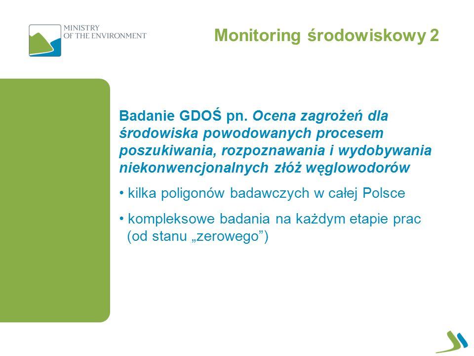 Monitoring środowiskowy 2 Badanie GDOŚ pn.