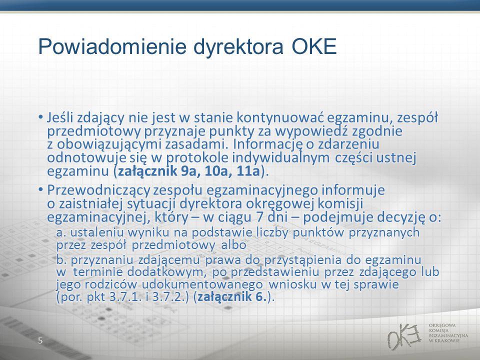 5 Powiadomienie dyrektora OKE