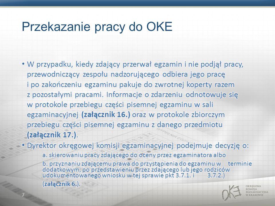 7 Przekazanie pracy do OKE