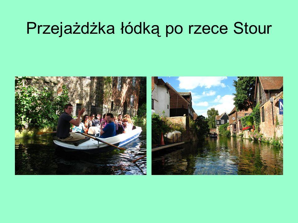 Przejażdżka łódką po rzece Stour