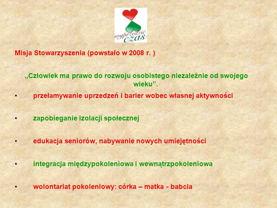 "Projekt Borneńska Akademia Seniora ""BAS (2009 – 2010r.) Wartość: projektu 43.600,00 zł."