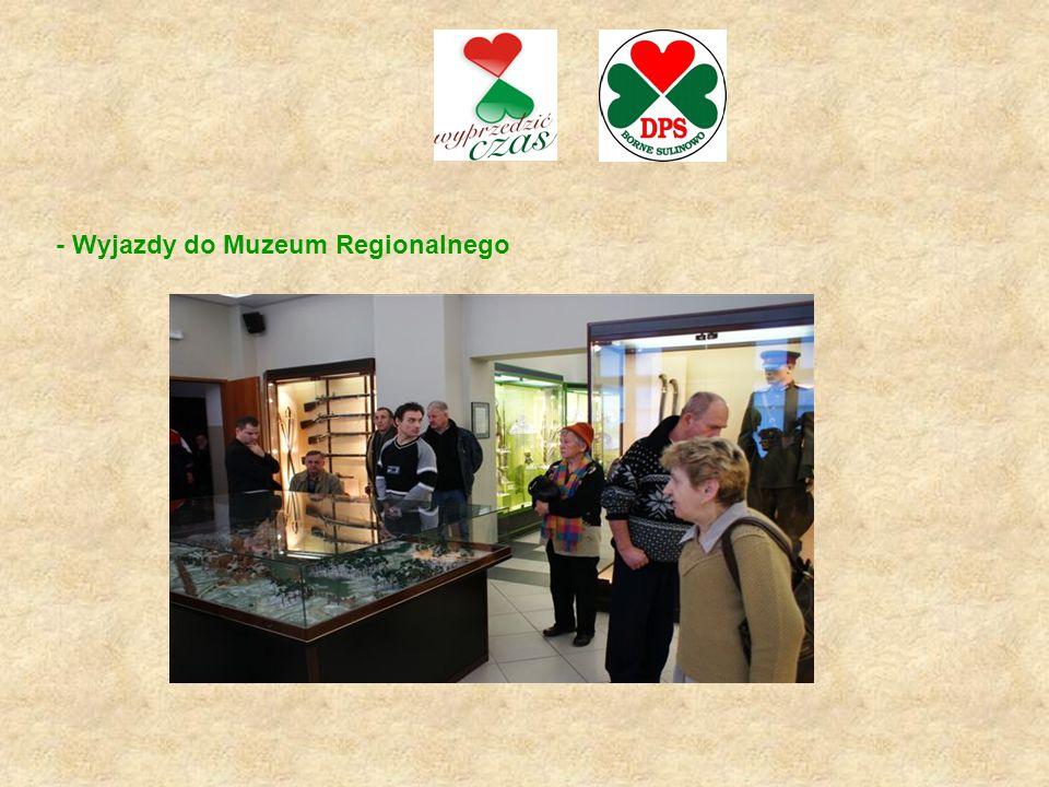 - Wyjazdy do Muzeum Regionalnego