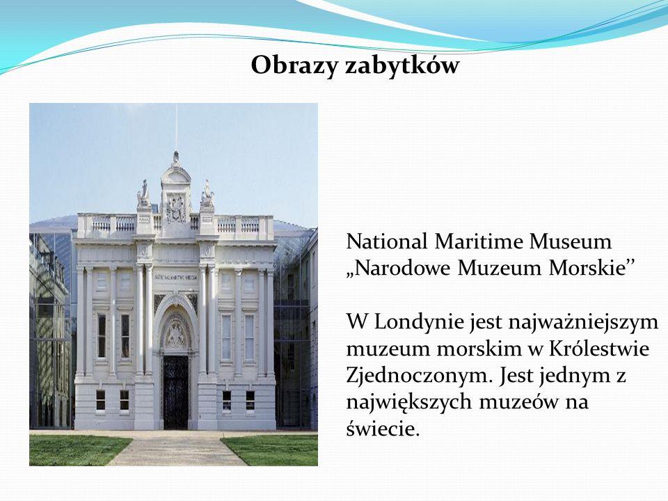 """Obrazy zabytków National Maritime Museum """"Narodowe Muzeum Morskie'' W Londynie jest najważniejszym muzeum morskim w Królestwie Zjednoczonym."""