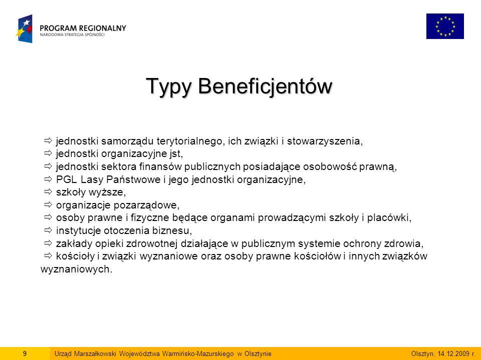 6 marca 2009 r.Poddziałanie 7.2.1 – Usługi i aplikacje dla obywateli – 35 870 828,27 zł.