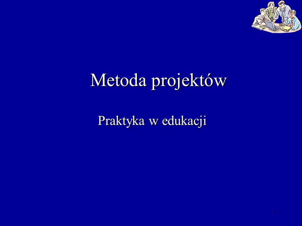 1 Metoda projektów Praktyka w edukacji