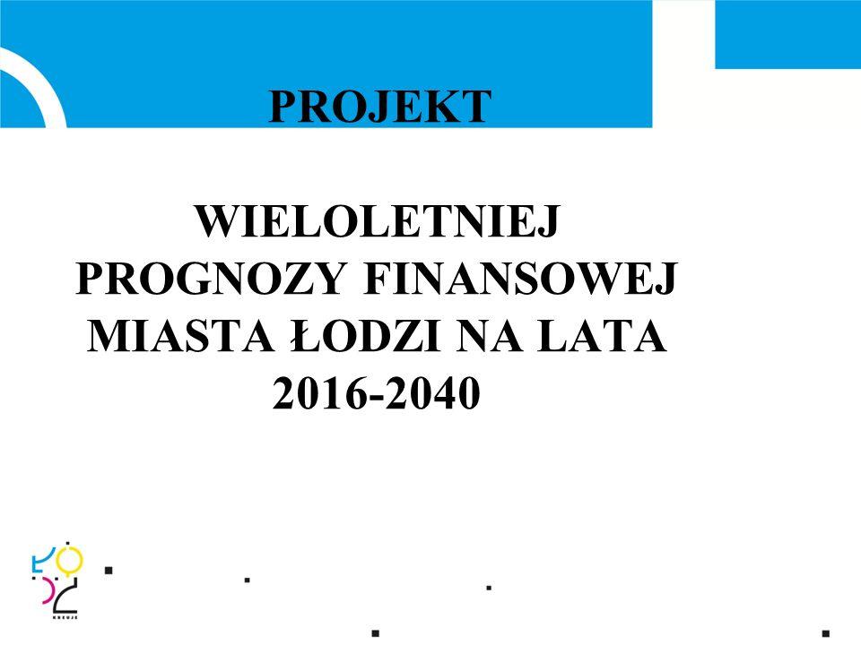 PROJEKT WIELOLETNIEJ PROGNOZY FINANSOWEJ MIASTA ŁODZI NA LATA 2016-2040