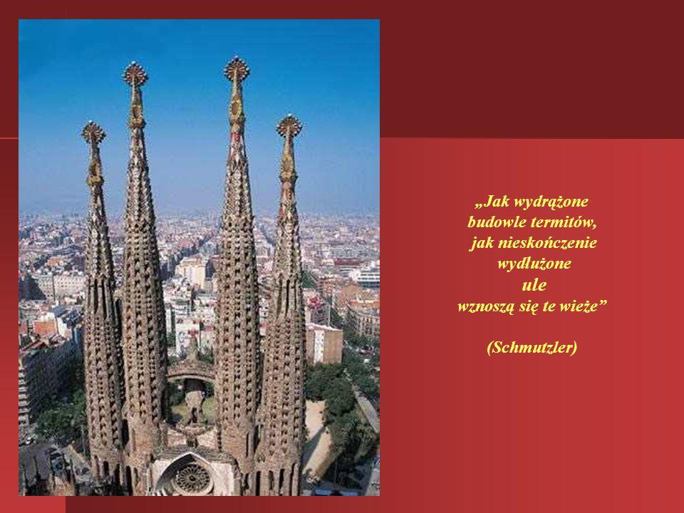 Zwieńczenie 170 metrowych wież katedry