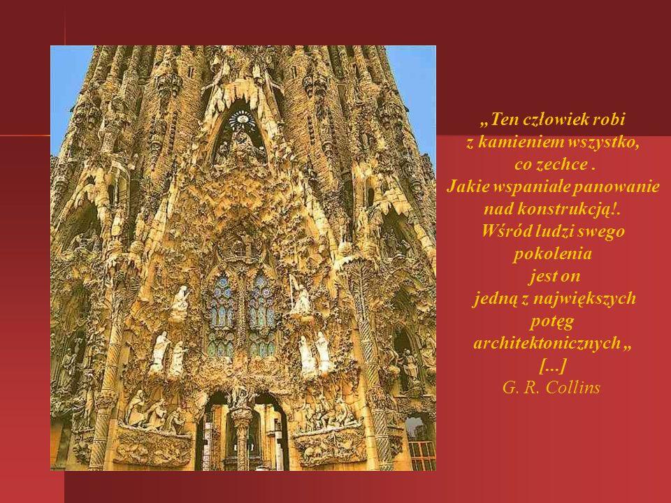 Sagrada Familia - kościół pod wezwaniem Najświętszej Rodziny jest dziełem, które Gaudi budował niemal przez całe życie. Rozpoczęty w stylu neogotyckim